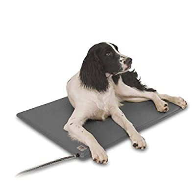 K&H Manufacturing Deluxe Lectro-Kennel Large Gray 22.5-Inch by 28.5-Inch 80 Watts