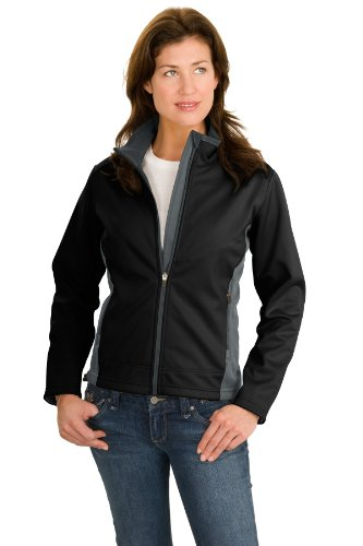 Port Authority Women's Two Tone Soft Shell Jacket S Black/Graphite