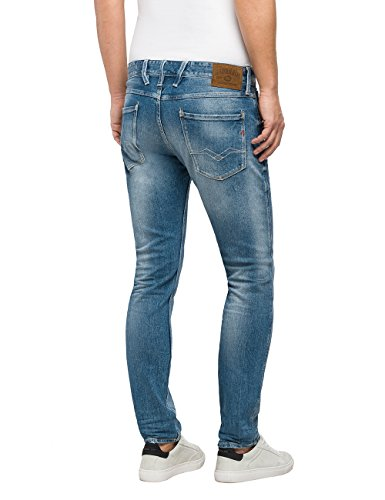Bleu 10 Homme Denim Jean blue Slim Anbass Replay R7IF6q87