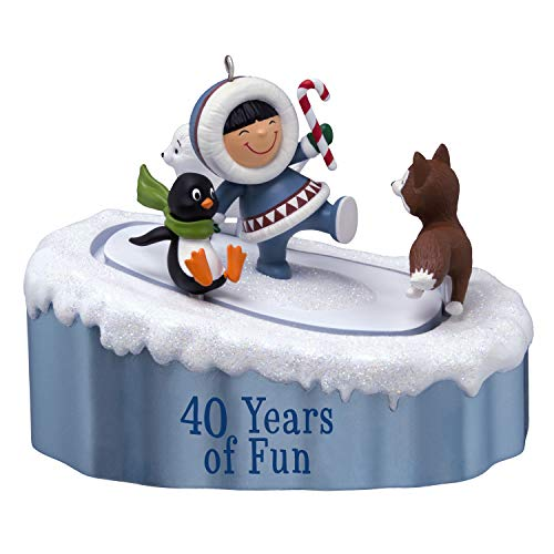 Hallmark Keepsake Christmas Ornament 2019 Year Dated Frosty Friends 40th Anniversary with Motion