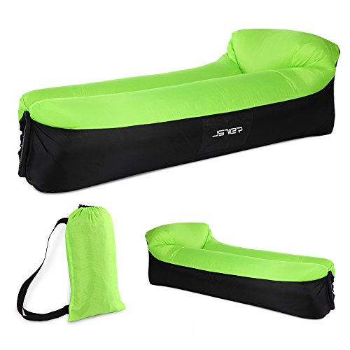 JSVER Inflatable Lounger Air Sofa with Headrest for Pool and Beach Parties, Travelling, Camping, Park by JSVER