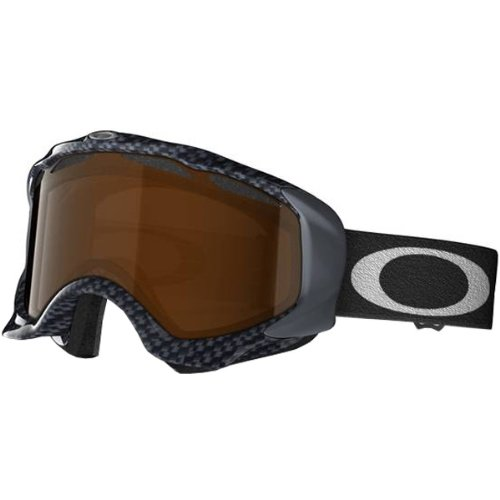 Oakley Twisted True Carbon Fiber Adult Winter Sport Racing Snowmobile Goggles Eyewear - Black Iridium / One Size Fits - Oakley Carbon Goggles Fiber