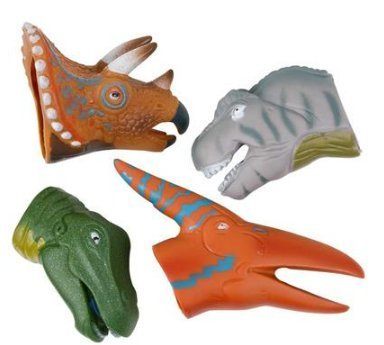 REALISTIC-DELUXE-TOY-DINOSAUR-FINGER-PUPPETS-One-Dozen