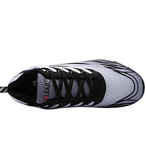 ALEADER Womens Running Shoes Fashion Walking Sneakers Black/Gray N0499