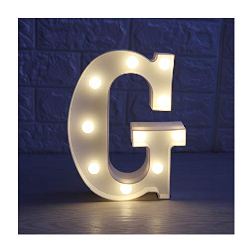 CSKB LED Marquee Letter Lights 26 Alphabet Light Up Marquee Letters Sign for Wedding Birthday Party Battery Powered Christmas Night Light Lamp Home Bar Decoration G