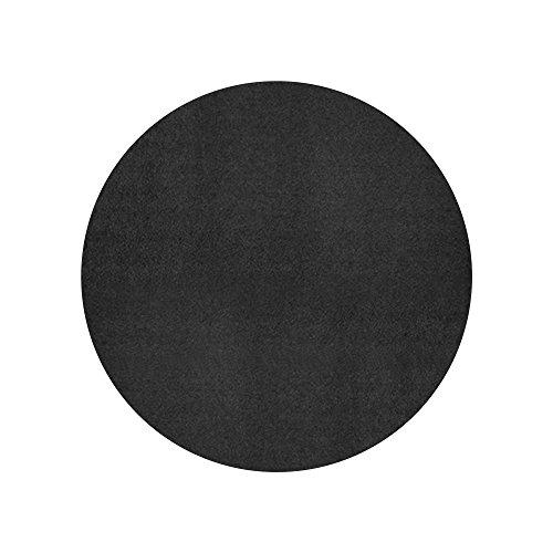 FANMATS 19306 Round Generic Grill Mat, Black, 31.25