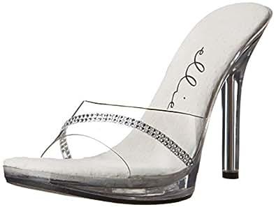 Ellie Shoes Womens 502-jesse 502-jesse Transparent Size: 5