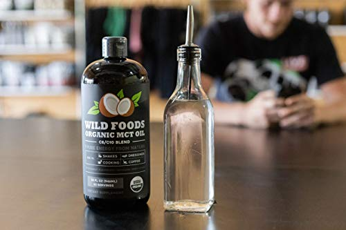 Organic MCT Oil C8/C10 Blend from 100% Coconuts   USDA, Non-GMO, Triple Filtered & Batch Tested for Purity, Great for Coffee, Smoothies, Dressings & Keto Recipes - 32oz BPA-Free Plastic Bottle