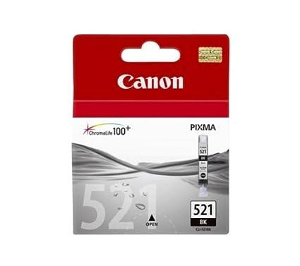 Canon CLI-521 BK - Cartucho de Tinta para impresoras (Negro ...