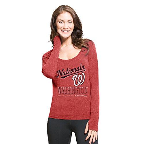 MLB Washington Nationals Women's '47 Dash Long Sleeve Tee, X-Large, Shift (Washington Nationals Classic Shirt)