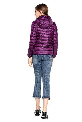 Vento Purple Piumino In Cappuccio Da Pearl Imbottitura A Leggera Donna Con Oriental Ultra Giacca nxCOqwp