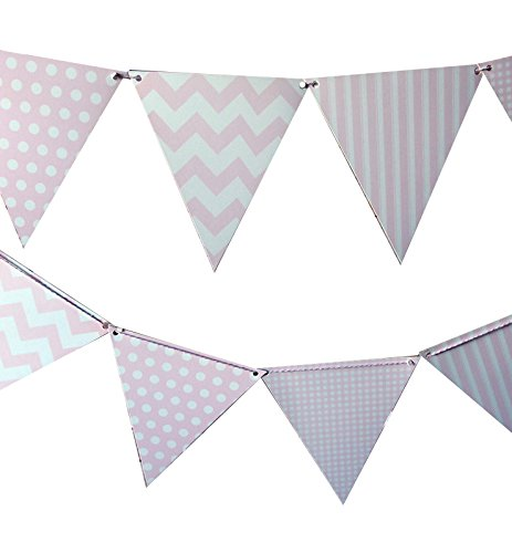 Quasimoon Pattern Triangle Pennant PaperLanternStore