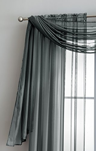 Sheer Window Scarf Fabric Sheer Voile curtain for Window Treatment - Add to Window Curtains for Enhanced Effect (56