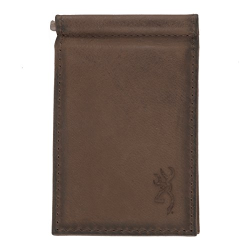 Browning Money Clip Wallet, Leather, Brown (Leather Billfold Signature)