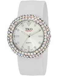TKO ORLOGI Womens TK613CL Crystal White Slap Watch
