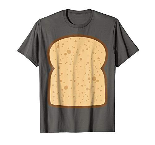 Mens Sliced Bread Toast Matching Shirts DIY Halloween Costume Large Asphalt -