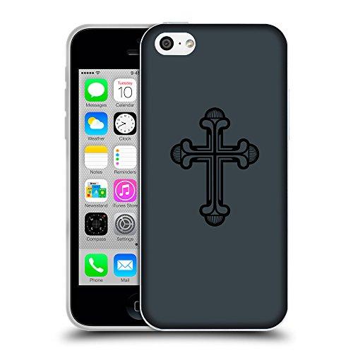 GoGoMobile Coque de Protection TPU Silicone Case pour // Q07950606 Christian Cross 20 Arsenic // Apple iPhone 5C