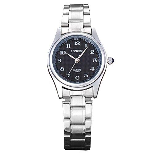 Longbo MUJER Acero Inoxidable Banda Correa Business árabe numeral Relojes Casual Pareja de cuarzo analógico Vestido reloj...