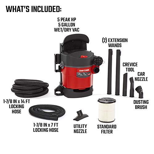 Craftsman Wall-Mounted Shop Vacuum - 5HP CMXEVBE17925