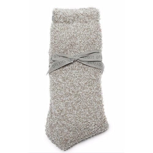 Barefoot Dreams CozyChic Women's Heathered Socks (Oyster)