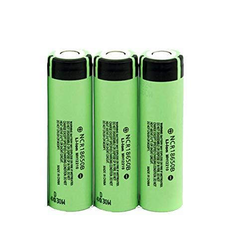 Green Stroller Accessories - Sodoop [3-Pack Li-ion 18650 Batteries, 3.7V 3400 mAh Lithium Rechargeable Battery for Garden Lights, Solar Lamps, LED Flashlights,Power Tools Etc