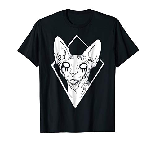 Black Metal Sphynx Cat Death Metal Goth T-Shirt