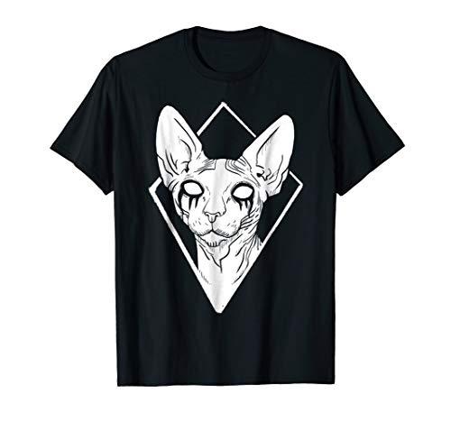 Black Metal Sphynx Cat Death Metal Goth T-Shirt ()