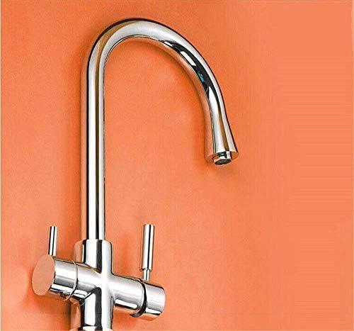 Zxyan 蛇口 立体水栓 バスルームのシンクの蛇口洗面器のミキサータップ真鍮温水と冷水回転可能な盆地シンクタップ浴室バーの蛇口 トイレ/キッチン用