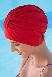 2bf4f2c9cd Fashy Ladies Swim Turban With Adjustable Fastener Black White Red Blue  Brown Red