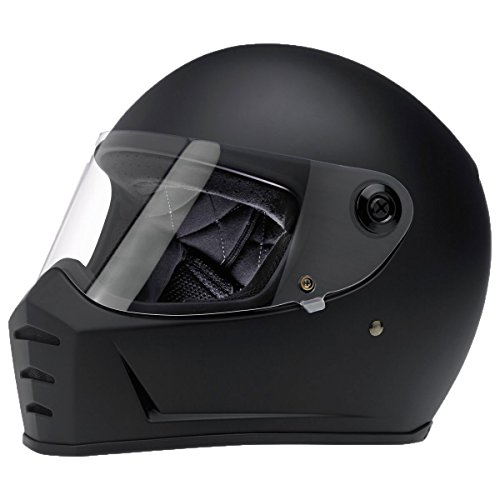 Biltwell Lane Splitter Solid Full-face Motorcycle Helmet - Flat Black / Medium by Biltwell