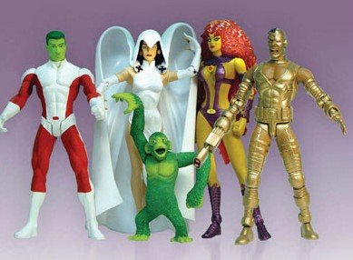 DC Direct The Classic Teen Titans Action Figure Gift Set - Featuring Starfire, Cyborg, Raven, Beast Boy and Beast Boy As Monkey. by DC (Dc Figures Beast Boy)