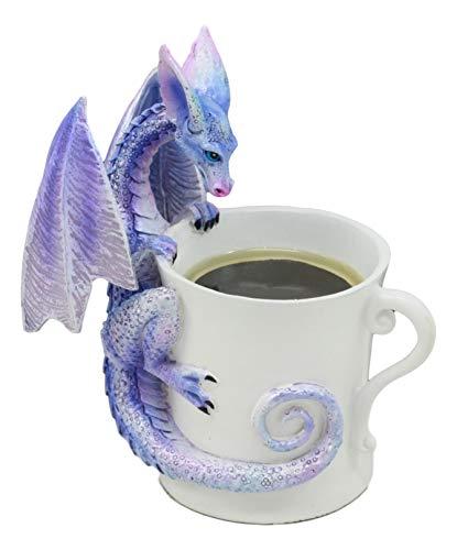 (Ebros Amy Brown Whatcha Drinkin Peeking Midnight Teacup Dragon Statue 4.5