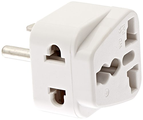 (CKITZE BA-5AN Grounded Universal 2 in 1 Plug Adapter Type A/B for USA, Canada, Brazil, parts of Japan & more - CE Certified)