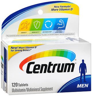 Centrum Ultra Men Multivitamin/Multimineral Supplement (120-Count Tablets), Pack of 2