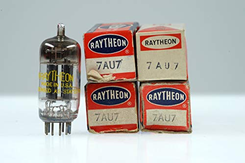 (4 Vintage Raytheon 7AU7 / XCC82 Noval Twin Triode Radio Preamp Valve - BangyBang Tubes)