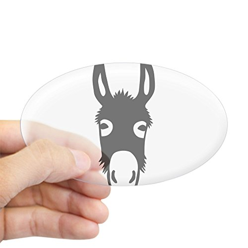 CafePress - Donkey Mule Horse Ass Jackass Burro Fool - Oval Bumper Sticker, Euro Oval Car - Express Burro