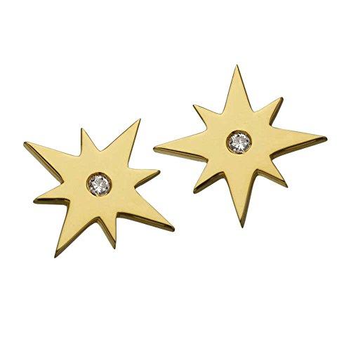 Jennifer Zeuner femme  Argent 925/1000  Argent|#Silver Rond   Blanc Diamant FASHIONEARRING