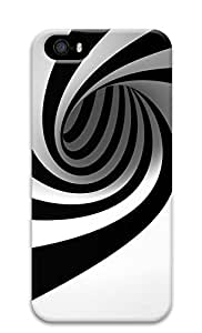 iPhone 5 5S Case Black And White Spiral 3D Custom iPhone 5 5S Case Cover