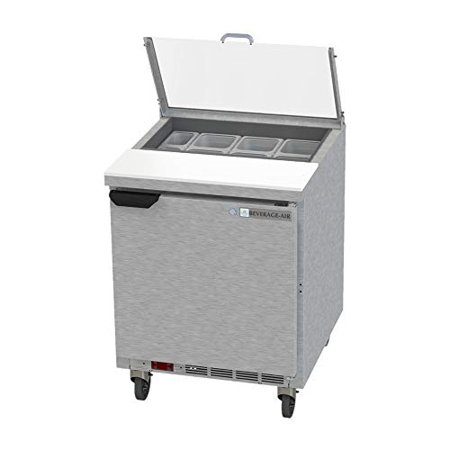 - Beverage Air SPE27HC-CL Elite Series Clear Lid Sandwich Top Refrigerated Counter, 27