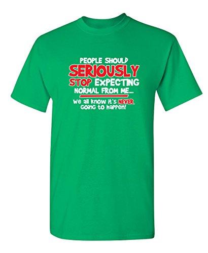 Stop Expecting Normal Gift Idea Sarcastic Humor Graphic Funny T Shirt 2XL Irish (Boys Irish Green Love)