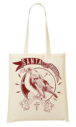 Sac Of Cool Death The Sac Tout Cross Bird Bones Muerte Words À Phrases Fourre Provisions Santa BEfqwvW