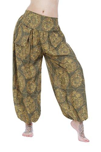 Hárem Flower Tipo Pantalones Holgados Olive qB6wWExPz