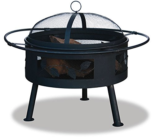 Uniflame WAD992SP Deep Aged Bronze Firebowl with Leaf Design