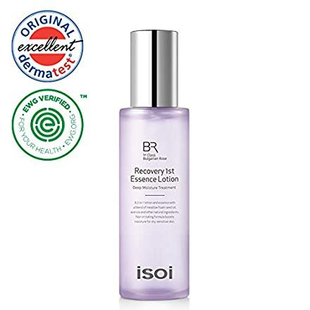 - isoi Bulgarian Rose Recovery 1st Essence Lotion 90ml - natural moisturizing lotion and essence, brightening