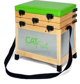 Asiento para pesca y caja de madera y aluminio (BA2C ...