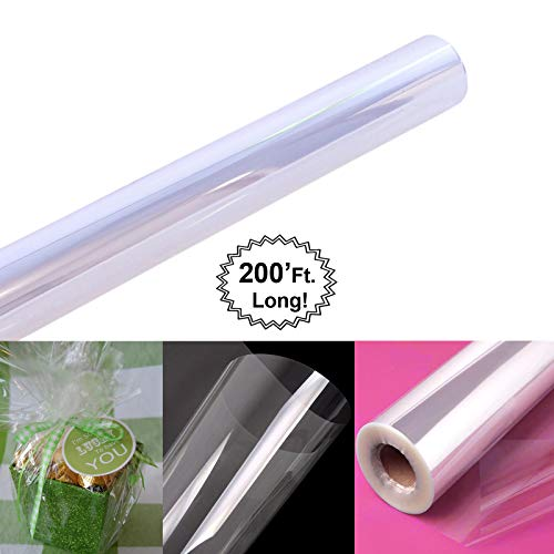 Clear Cellophane Wrap Roll | 200' Ft. Long X 16