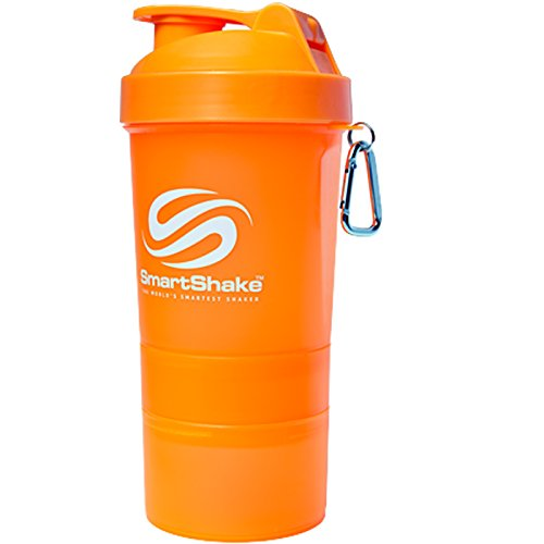 SmartShake Water Bottle, 20 oz, Original Neon Orange