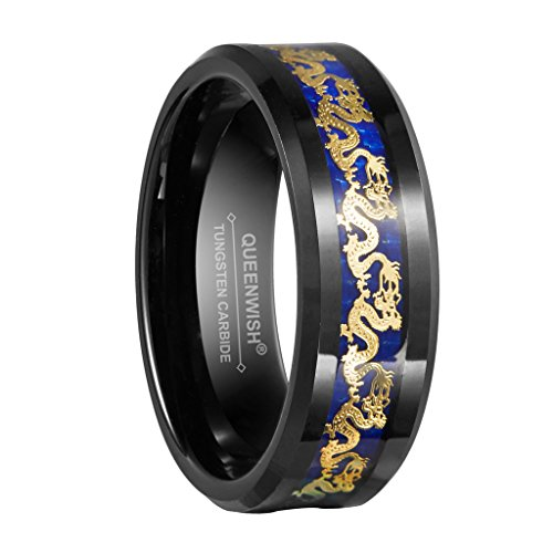 Inlay Tungsten Carbide Ring - 9