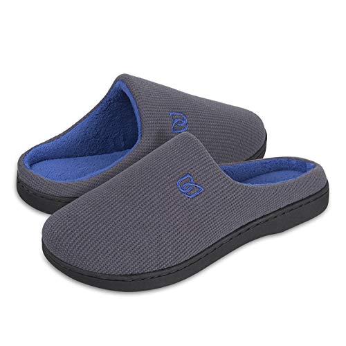 Scarpe Donna Grigio Morbido Inverno Pantofole Peluche Antiscivolo blu Ciabatte Da Uomo Coppie Casa wpEx4qB