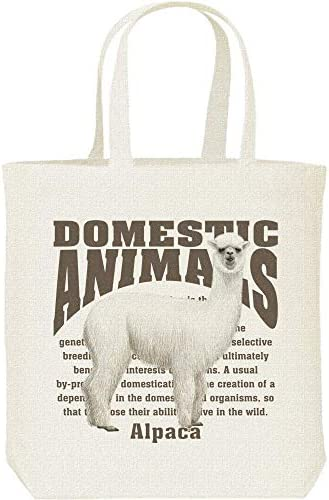 エムワイディエス(MYDS) アルパカ<飼育動物・家畜/キャンバス M トートバッグ